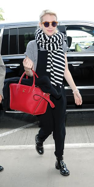 LOS ANGELES, CA - APRIL 05: Emma Roberts is seen at LAX on April 05, 2015 in Los Angeles, California.  (Photo by Chinchilla/Bauer-Griffin/GC Images)